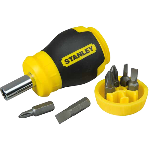 Отвертка со вставками Multibit Stubby (6 пр.) Stanley 0-66-357
