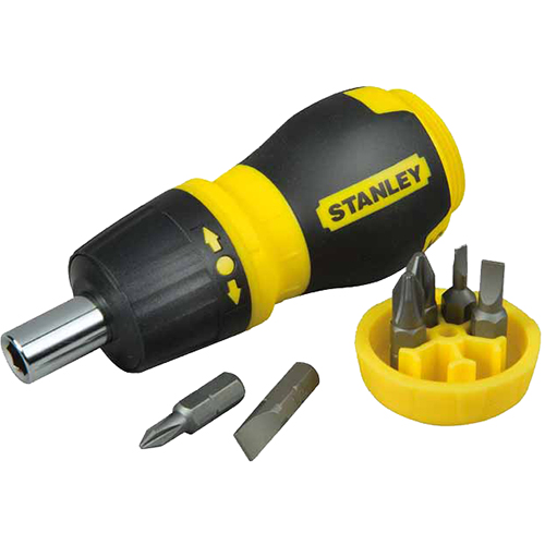 Отвертка со вставками Multibit Ratchet Stubby с храповым механизмом (6 пр.) Stanley 0-66-358