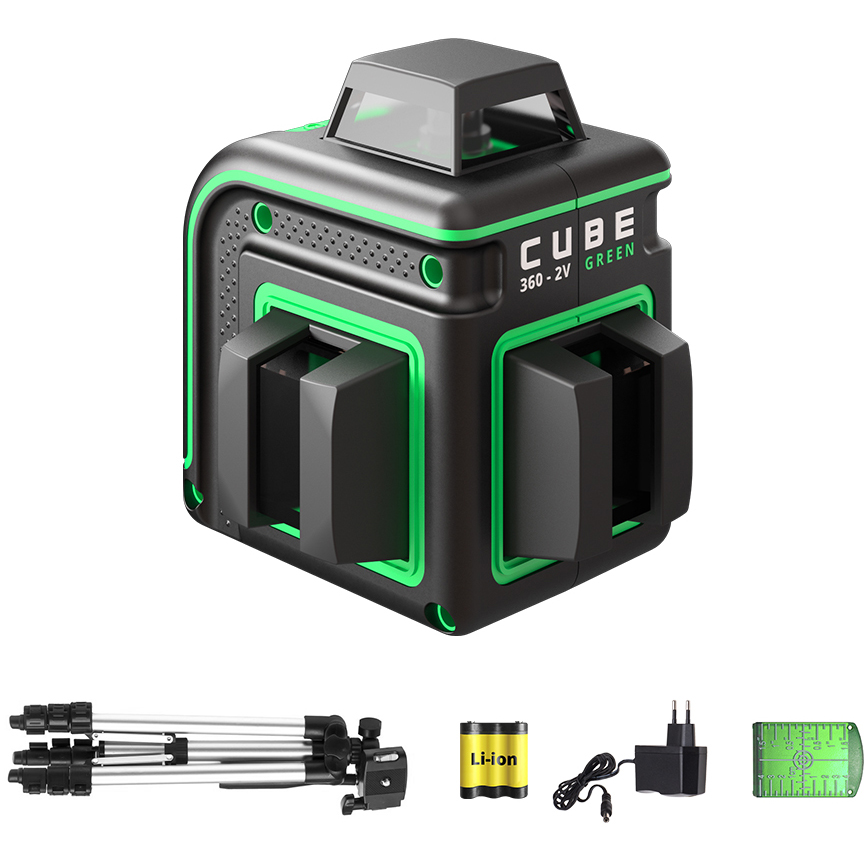 Нивелир лазерный ADA Cube 360-2V GREEN Professional Edition